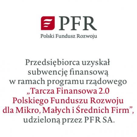 Otrzymaliśmy Subwencje z Polskiego Funduszu Rozwoju S.A. w ramach Tarczy Finansowej 2.0
